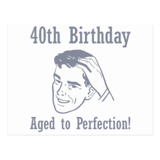 Hilarious 40th Birthday Gifts Postcard