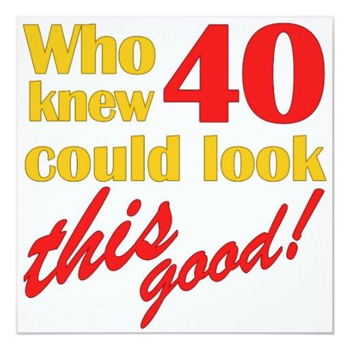 HIlarious 40th Birthday Party Invitations