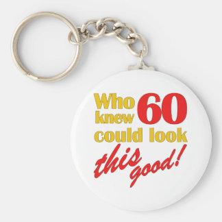 Hilarious 60th Birthday Gifts Basic Round Button Keychain