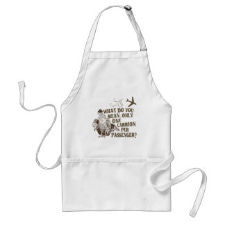Hilarious Airline Joke Shirt Adult Apron