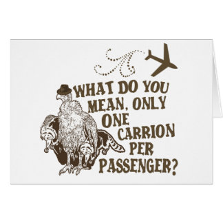Hilarious Airline Joke Shirt Card