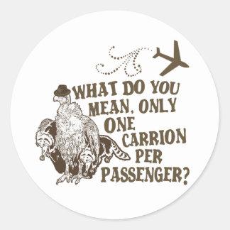 Hilarious Airline Joke Shirt Classic Round Sticker