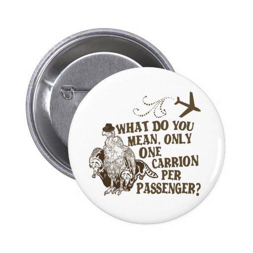 Hilarious Airline Joke Shirt Pin