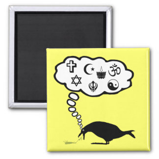 Hilarious atheist 2 inch square magnet