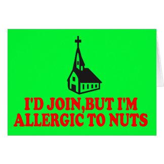Hilarious atheist joke card