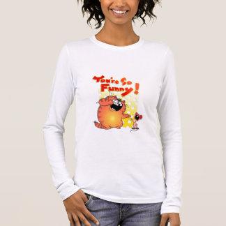 Hilarious Cartoon Cat + Mouse | Funny Mouse Long Sleeve T-Shirt