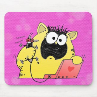 Hilarious Cat and Mouse Pad mousepad