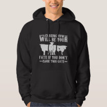 Hilarious Cattle Farmer Job Agriculture Humor Hoodie
