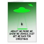 Hilarious Christmas alien abduction Cards