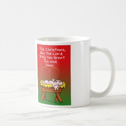 "Hilarious Christmas message of ""peace""! Mug"