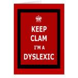 Hilarious dyslexic greeting card