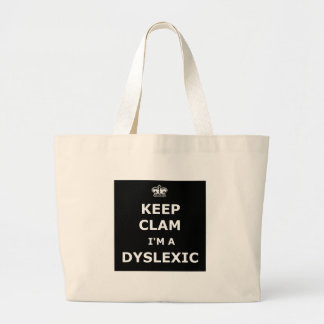 Hilarious dyslexic large tote bag