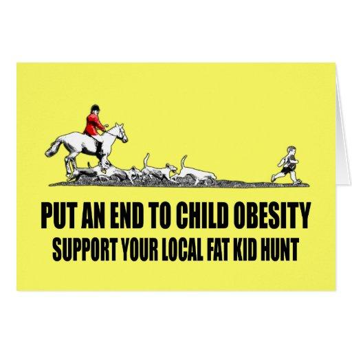 Hilarious fat kid card