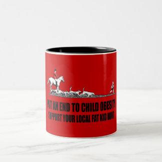 Hilarious fat kid Two-Tone coffee mug