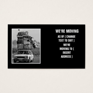 Hilarious house move business card