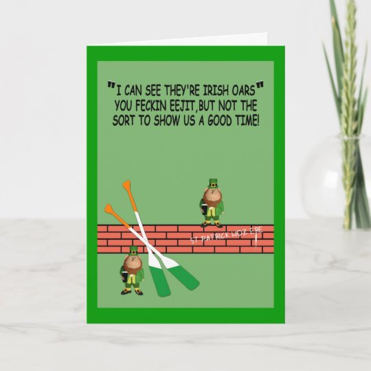 Hilarious Irish Birthday Card Zazzle