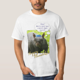 Hilarious Jewish Black Squirrel Wearing Yarmulke T-Shirt