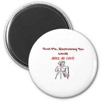 Hilarious Nurse Gifts 2 Inch Round Magnet