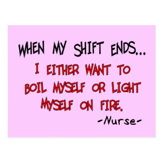 Hilarious Nurse Sayings Postcard