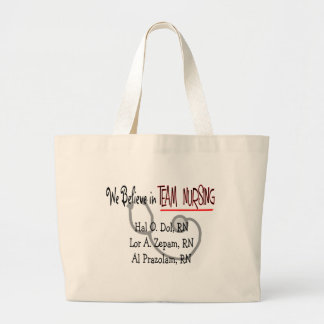 Hilarious Nurse T-Shirts and Gifts Large Tote Bag
