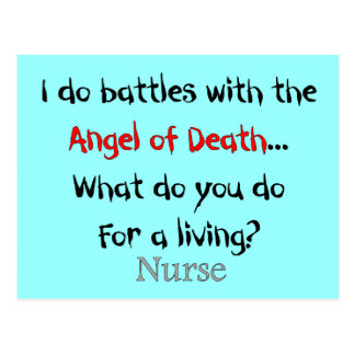 Hilarious Nurse T-Shirts and Gifts Post Cards