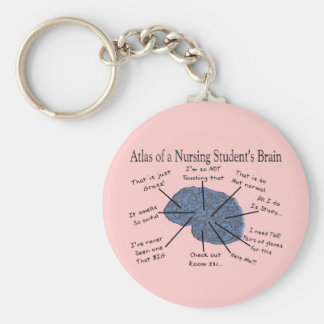 "Hilarious Nursing Student ""Brain"" Gifts Keychain"