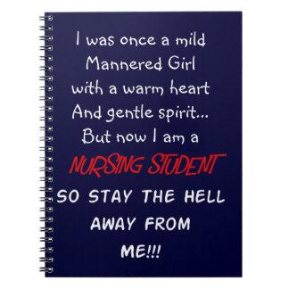 Hilarious Nursing Student Gifts Spiral Notebook