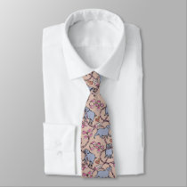 Hilarious pattern Chinese Pig Year old pink Tie