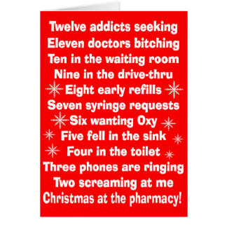 Hilarious Pharmacy Christmas Card