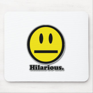 Hilarious Poker Face Smiley Mouse Pads
