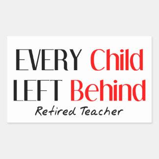 Hilarious Retired Teacher Gifts Rectangular Sticker