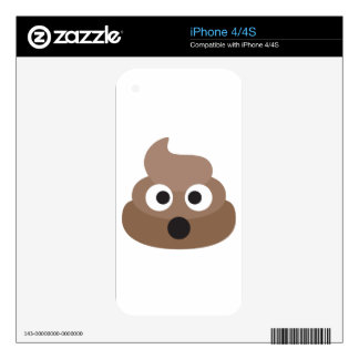 Hilarious shocked Emoji Poop Decal For The iPhone 4