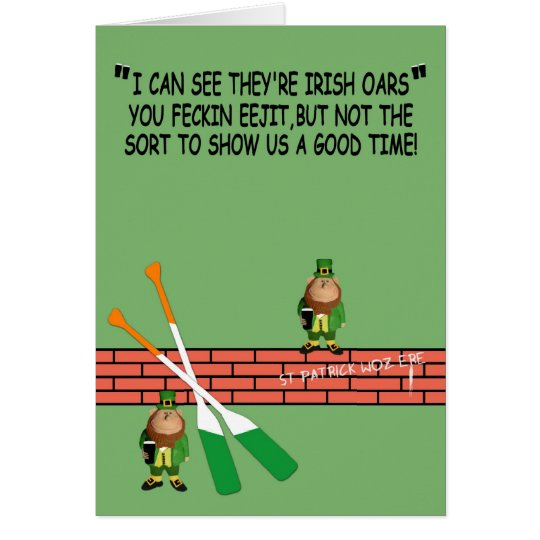 Hilarious St.Patrick's Day Card