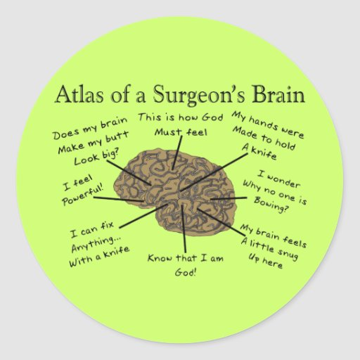 Hilarious Surgeon Gifts Round Stickers