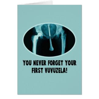 Hilarious vuvuzela greeting cards