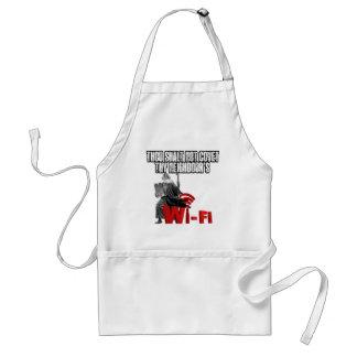 Hilarious wi-fi apron