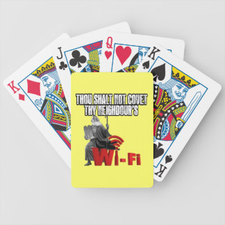 Hilarious wi-fi bicycle playing cards