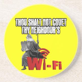 Hilarious wi-fi coaster