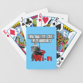 Hilarious wifi bicycle playing cards