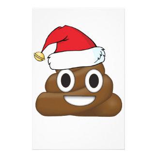 Hilarious Xmas Poop Emoji Stationery