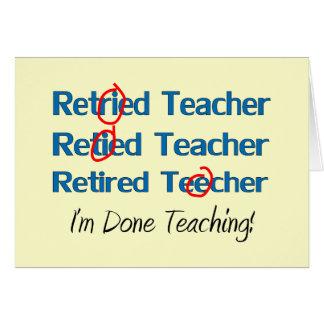 Hilarous Retired Teacher Gifts Card