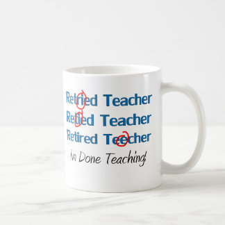 Hilarous retiró los regalos del profesor taza básica blanca
