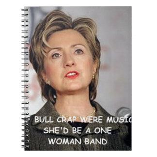 Hilary anti Clinton Libro De Apuntes Con Espiral
