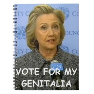 Hilary anti Clinton Libros De Apuntes