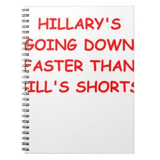 Hilary anti Clinton Cuadernos