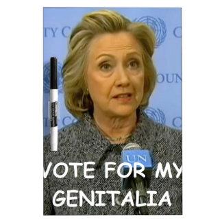 Hilary anti Clinton Tableros Blancos