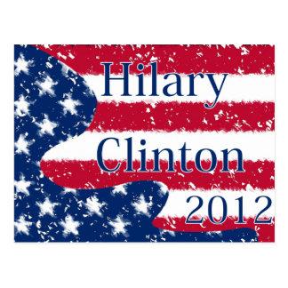Hilary Clinton 2012 Altered US Flag Postcard