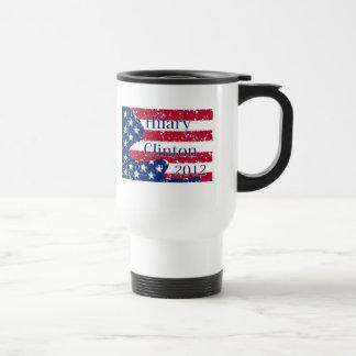 Hilary Clinton 2012 Altered US Flag Travel Mug