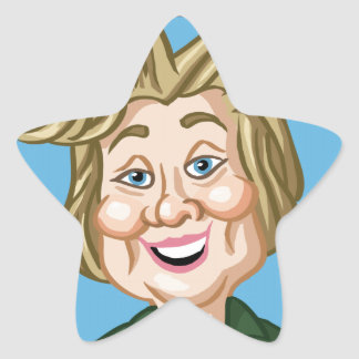 Hilary Clinton Election 2016 Star Sticker
