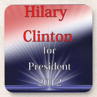 Hilary Clinton For President Dulled Explosion Beverage Coaster